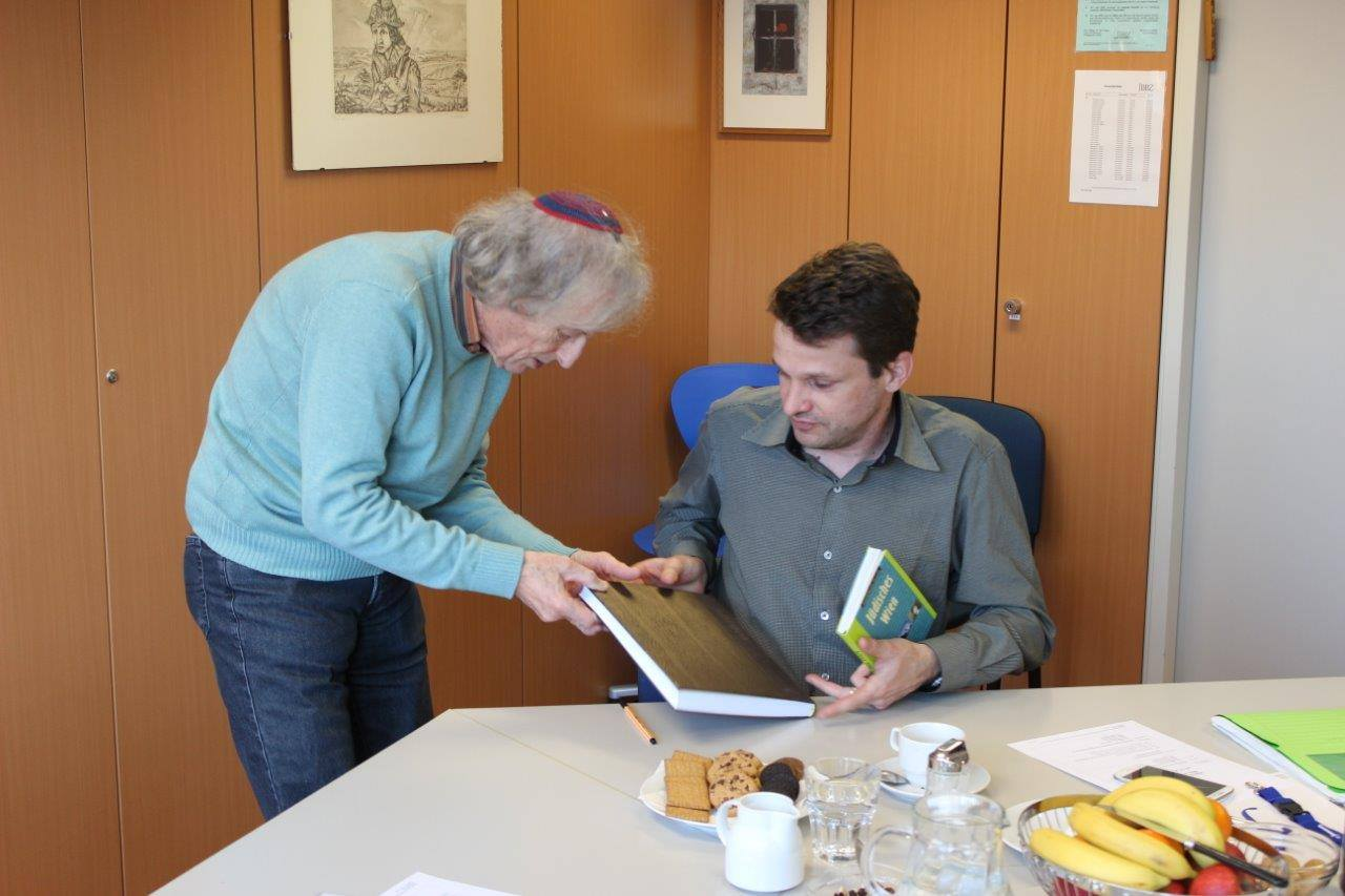 """Besuch im """"Jüdischen Beruflichen Bildungszentrum"""" 14.2.2015"""